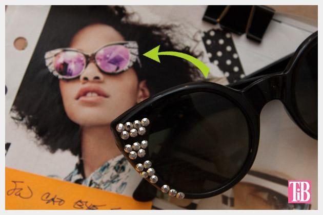 DIY  Sunglasses : DIY Sunglasses with Silver Nailheads
