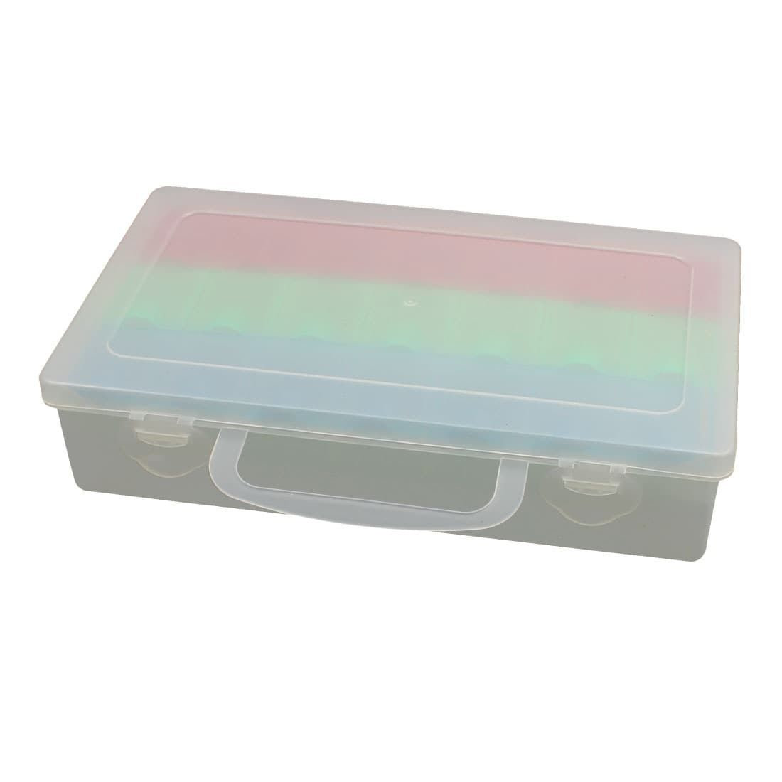 Plastic 21 Compartments Electronic Component Storage Box Case ...