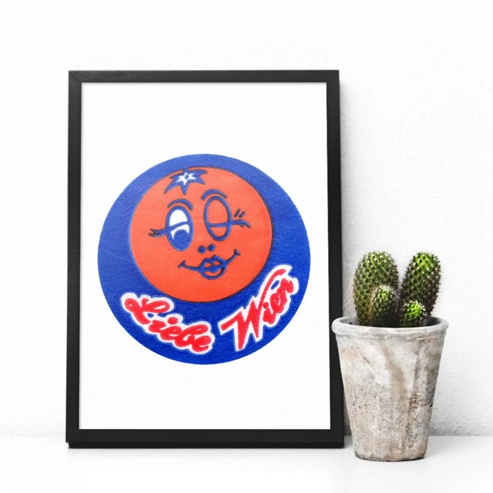 Wink in 2020 Fun stickers, Prints, Giclee print