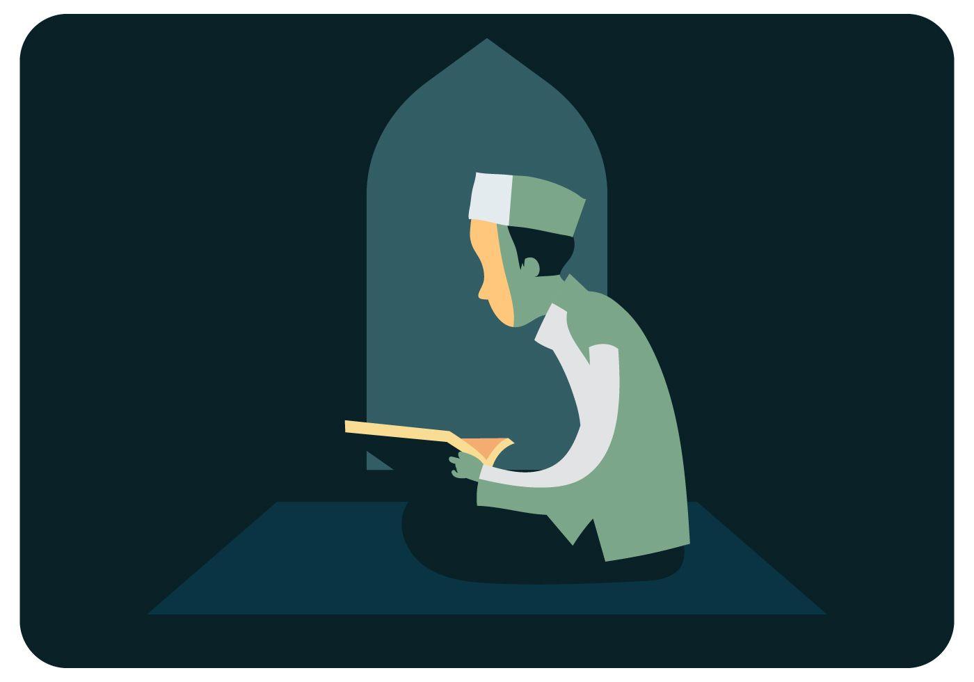Gambar Kartun Orang Baca Al Quran