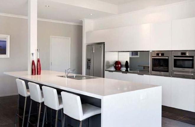 nice white kitchen with red decorations | house ideas | pinterest