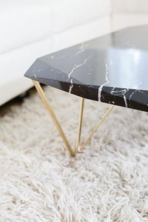 Liquid Marble Coffee Table Nero Marquina By Isabelle