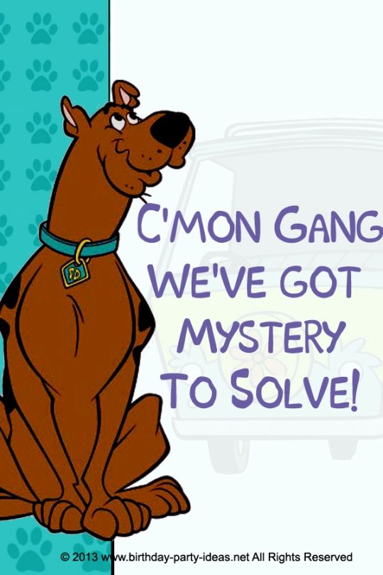 Mystery Incorporated Scooby Doo Birthday I always have a hard time