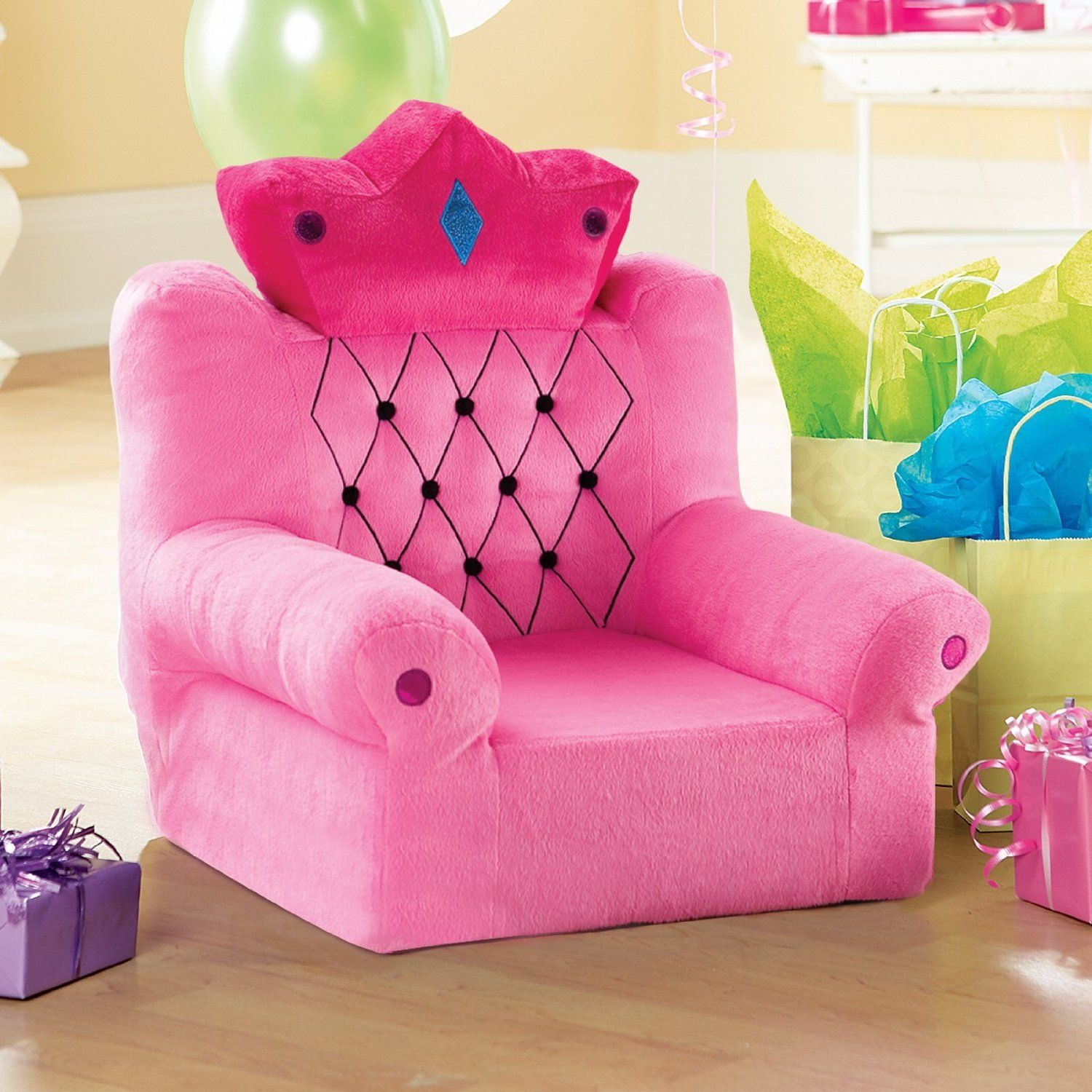 This Is KENDAL Pink Princess Throne Couch For Kids Years Old A Perfect Birthday Gift Girl