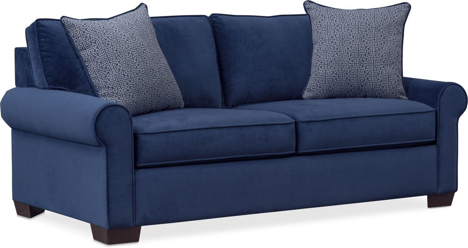 Blake Full Innerspring Sleeper Loveseat Indigo Value