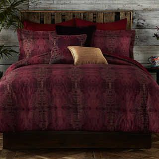 Tracy Porter Gigi Red and Gold Cotton Comforter Set