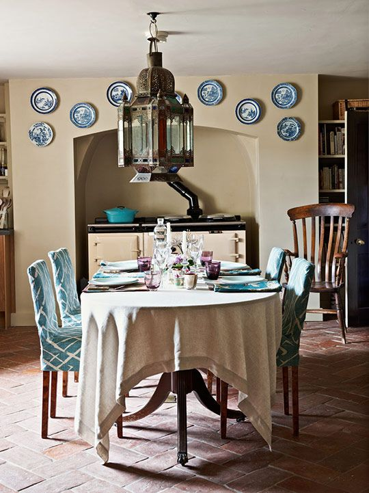 The Biggest Moroccan Lantern I Ve Ever Seen Beautiful Casual Dining Rooms English Farmhouse Farmhouse Dining Room