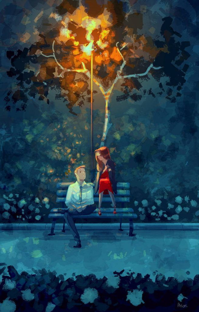 Love Is All You Need. 40 Romantic Digital Illustrations by Pascal Campion  #art #illustration #graphicdesign #digitalart #artist #love