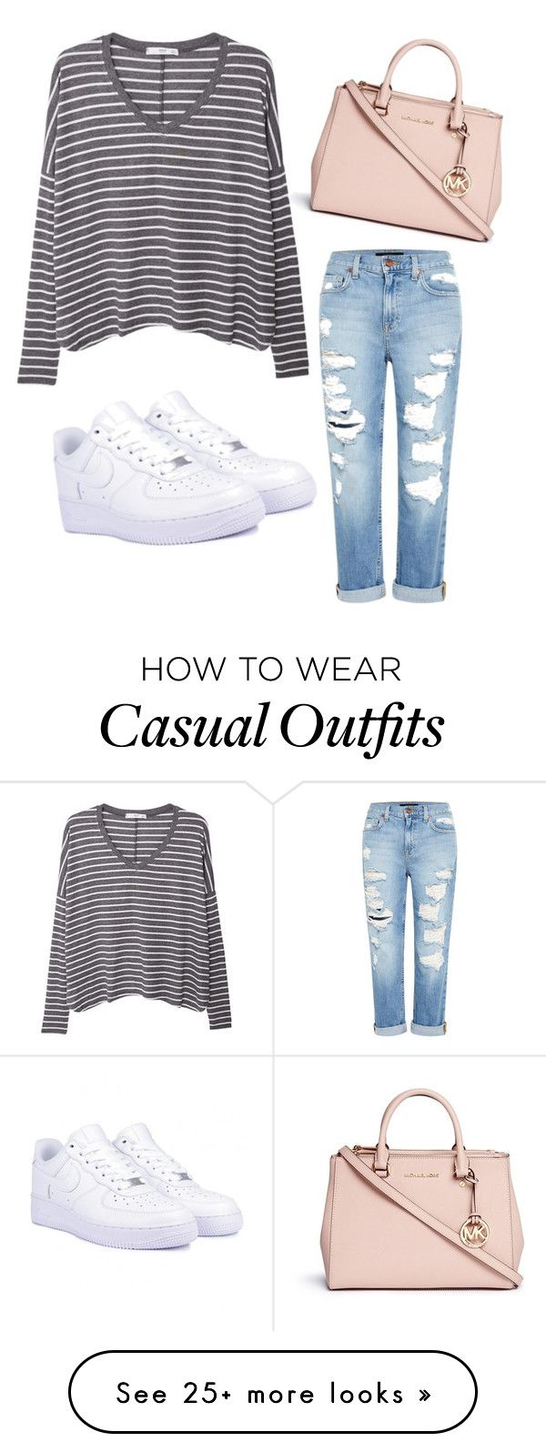 """casual casual"" by kenzwagner on Polyvore featuring MANGO, Genetic Denim, NIKE and Michael Kors"