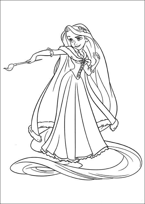 Disney Tangled Coloring Pages Free Coloring Pages Rapunzel