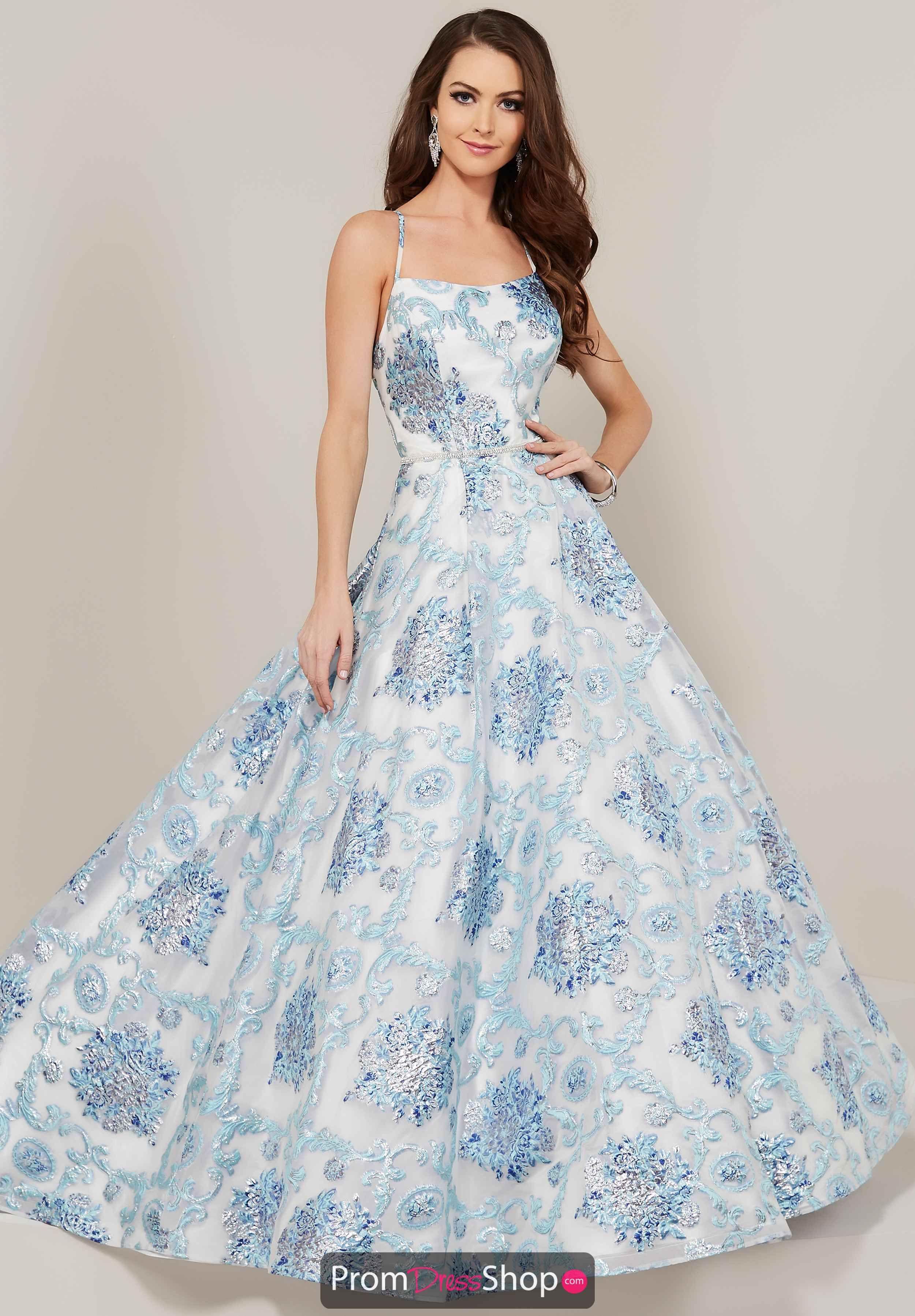 dfc2fdef781 China Blue Tiffany Dresses, High Fashion Trends, Brocade Dresses,  Rhinestone Belt, Dress