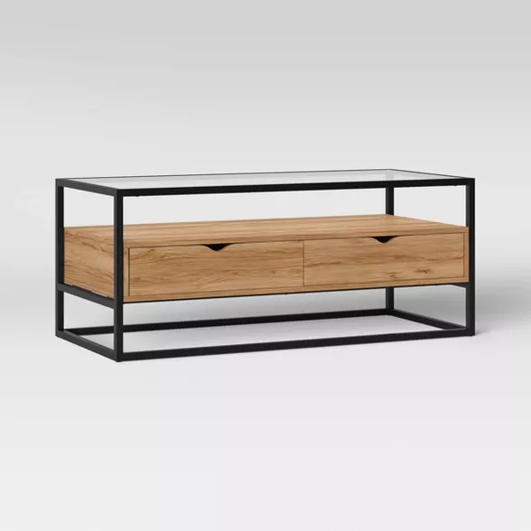 ada mixed material coffee table with