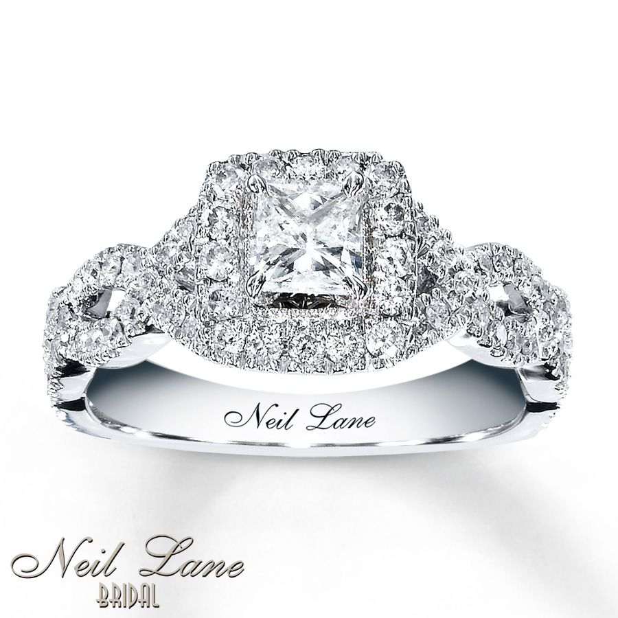 Kay Jeweler's $287999 Neil Lane Engagement Ring 1 Ct Tw Diamonds 14k White  Gold