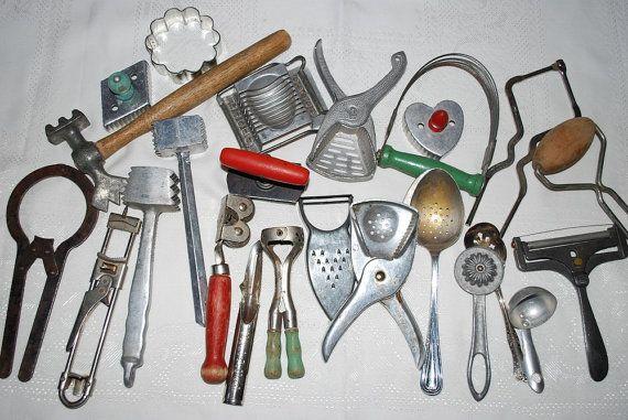 Antique 1920\'s 1940\'s Lot of 24 Kitchen Utensils by samjams3 ...