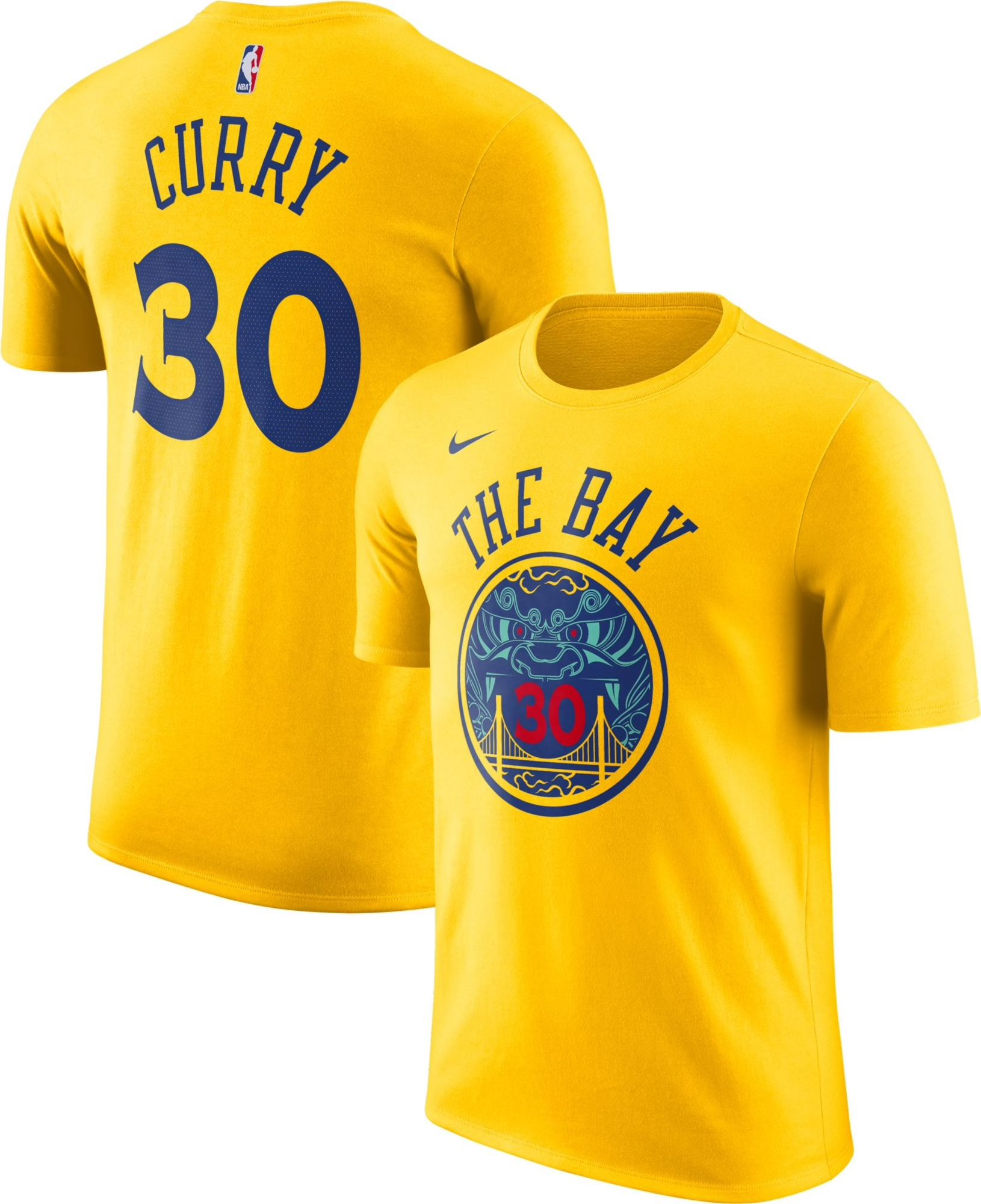 66bbe610f2c Nike 2018 Golden State Warriors City Edition Steph Curry Shirt ...
