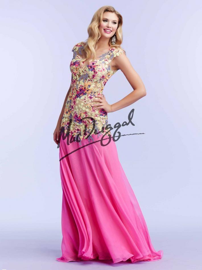 Bright Floral Prom Dress | Pink Dress | Mac Duggal 85434M | Mac ...