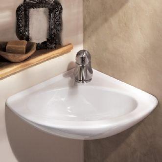 Small corner powder room sink half bath ideas modern - Small powder room sink ...