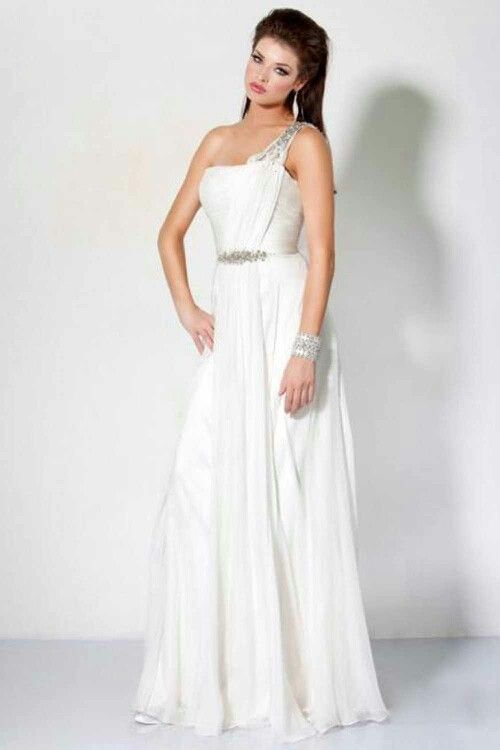 Vestidos de gala blanco largo
