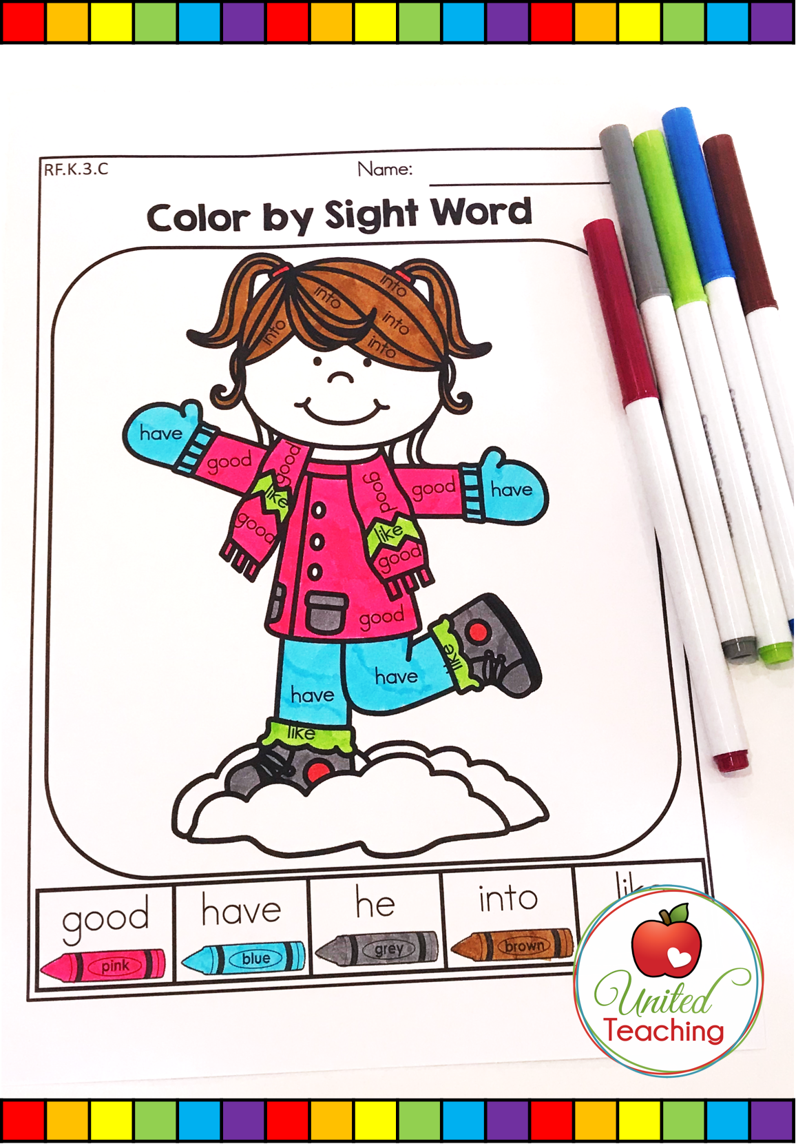 Winter Literacy Worksheets Kindergarten