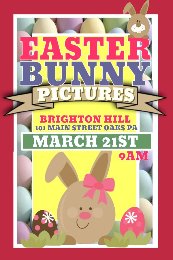 bunny easter poster design