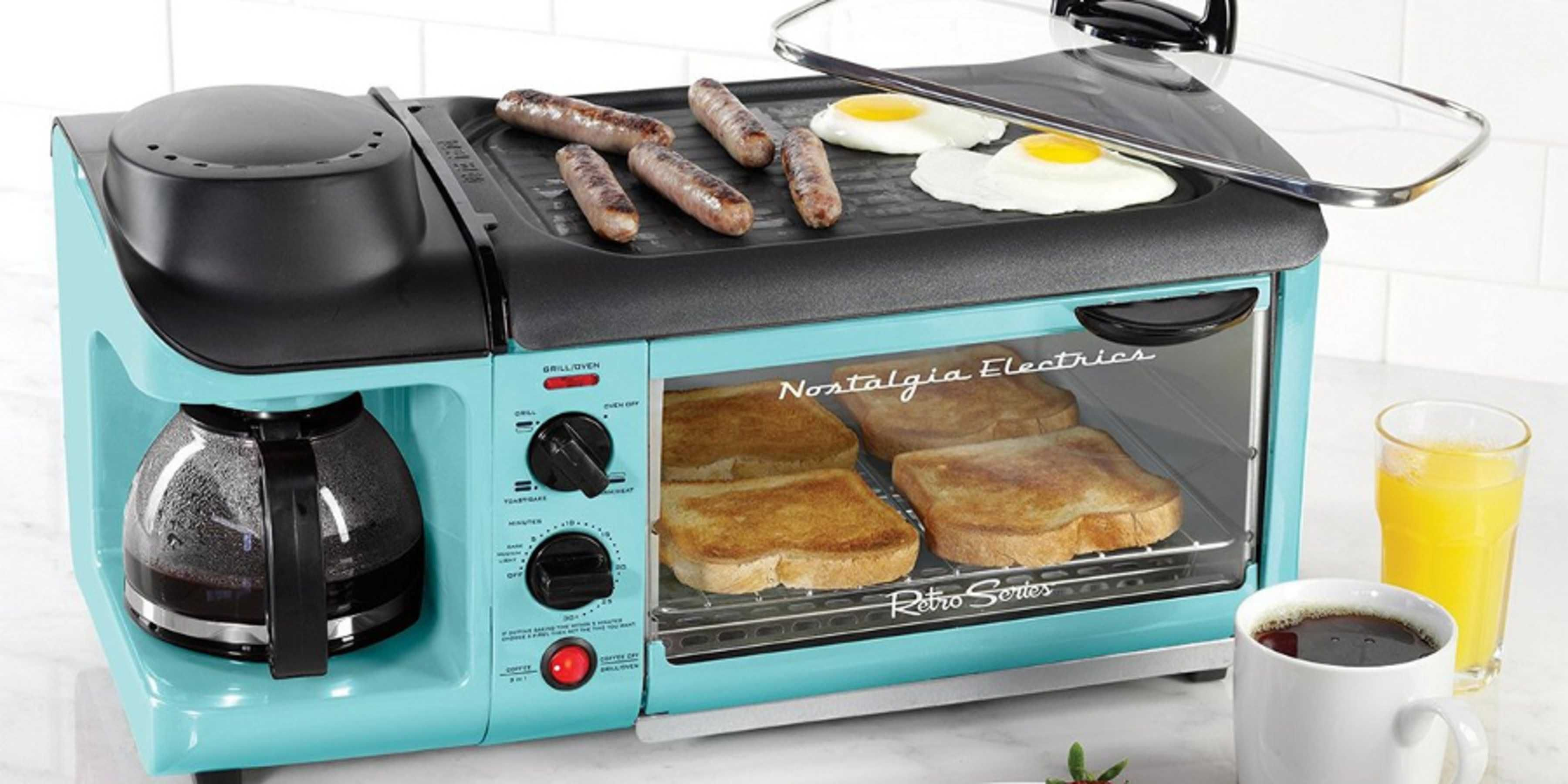 This Awesome Retro Breakfast Station Makes Coffee, Bacon, Eggs and ...