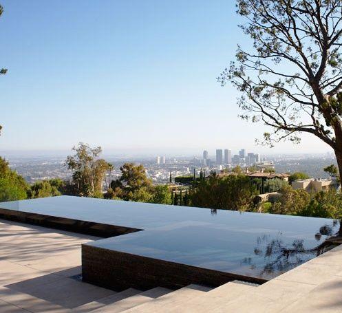 Edgeless pool spa pool gym pinterest swimming for Infinity pool design