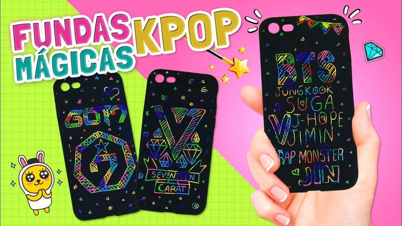 4b060bc75f7 DIY ☆ Como hacer FUNDAS MÁGICAS KPOP para el celular ♡ MAGIC CASES Tutor.