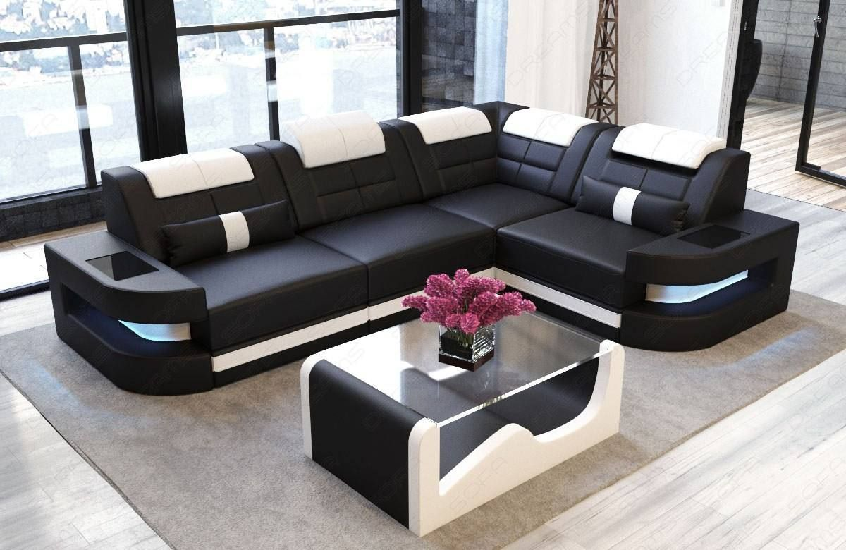 Leather Couch Denver L Shape di 2019 | sofa design | Kursi