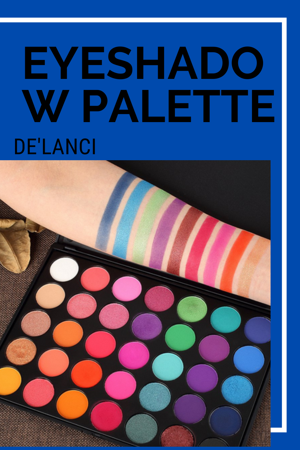 Eyeshadow Palette, 35 Bright Colors Matte Shimmer