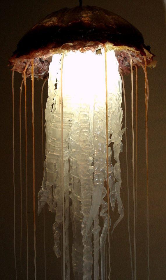 HUGE Hanging Jellyfish Lamp Sculpture
