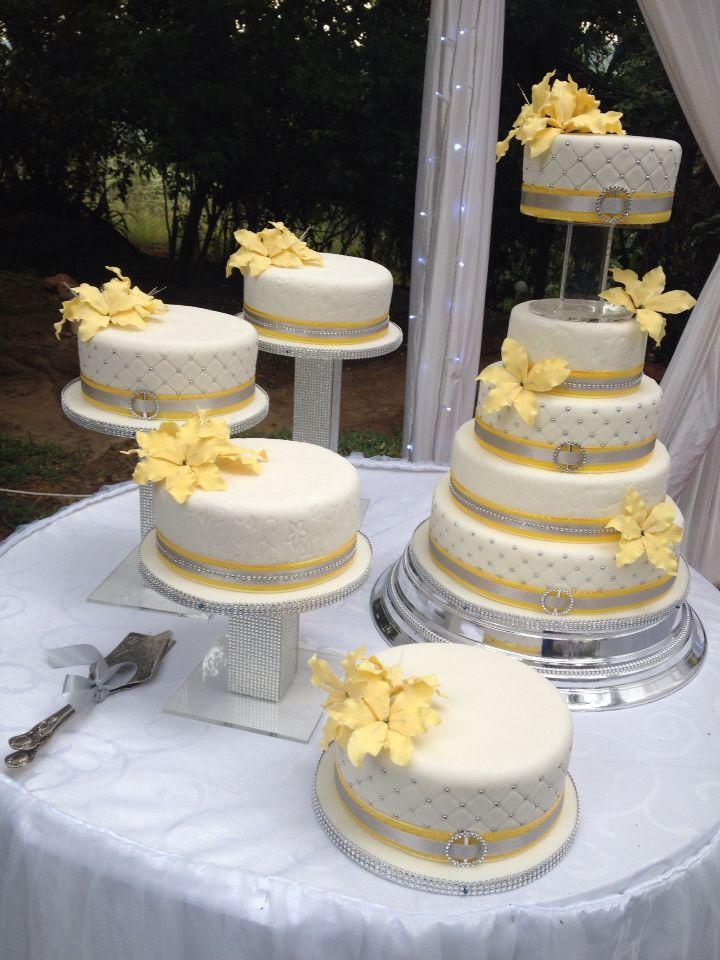 Yellow And Silver Birthday Cakes Vineyard Wedding Anniversary Vine Yard