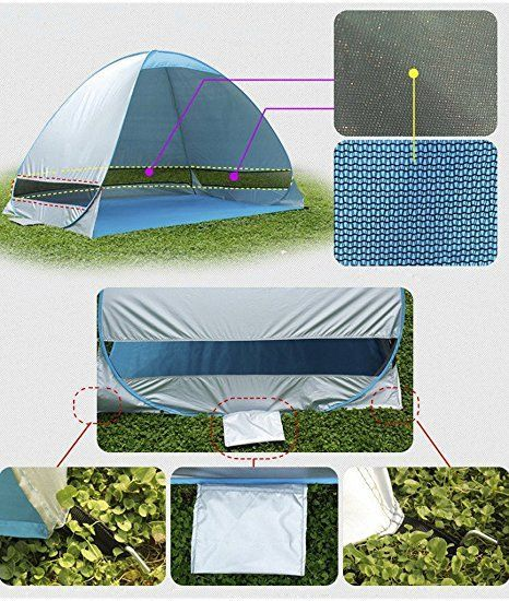 Amazon.com ChezMax Shade Shack Instant Pop Up Portable Family Beach Tent and Sun & Amazon.com: ChezMax Shade Shack Instant Pop Up Portable Family ...