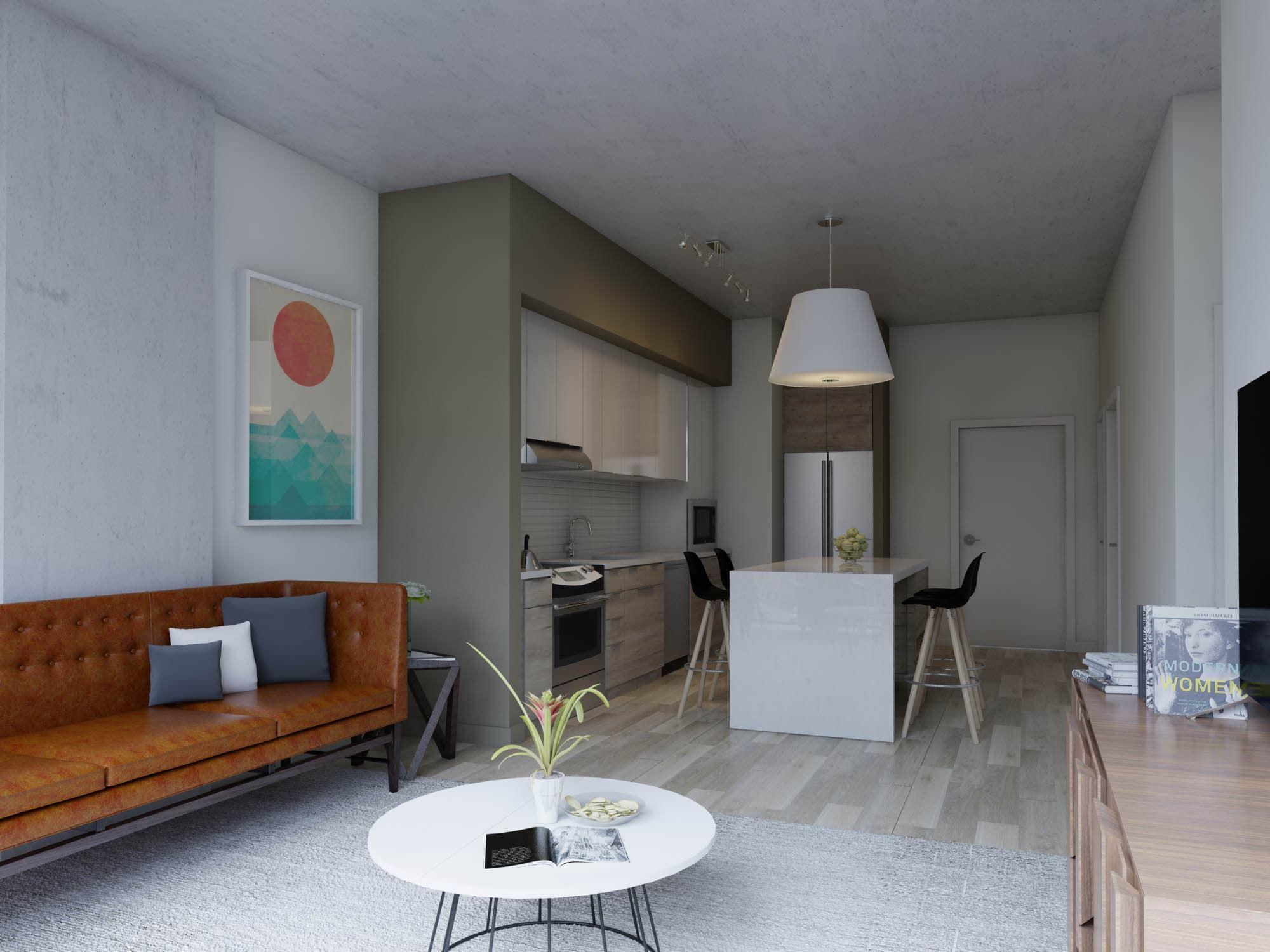 One Bedroom + Den Kitchen Downtown apartment, Luxury