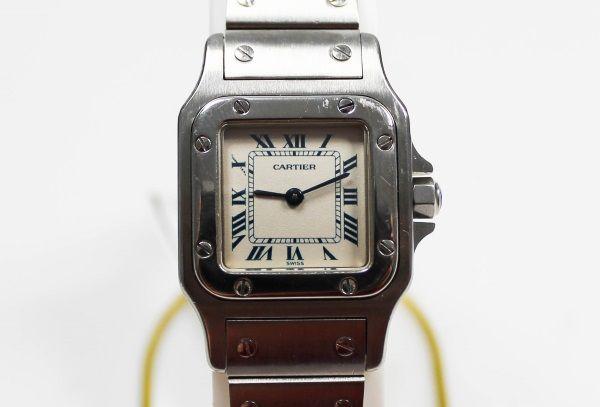 Cartier Santos Referenz 1565 Damen Armbanduhr Quarz in Stahl   www.ipfand.de/bargeld-sofort    #Cartier #Santos #iPfand #Bargeld