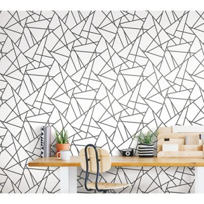Roommates Fracture Peel Stick Wallpaper Bed Bath Beyond Geometric Wallpaper Home Peel And Stick Wallpaper Stick On Wallpaper