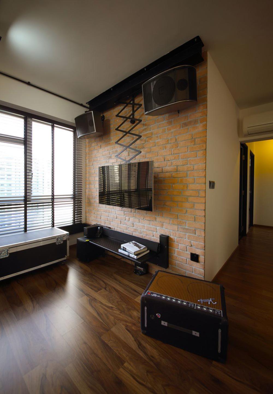 Hdb Living Room Decorating Ideas: Sengkang, Industrial HDB Interior Design, Living Room