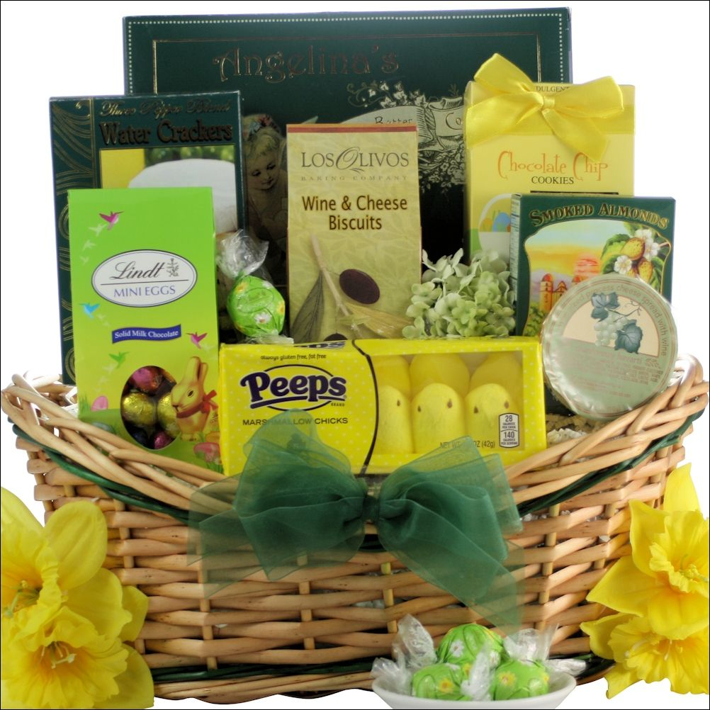 This festive easter wishes gourmet gift basket is a great way to gourmet easter wishes gourmet gift basket negle Images