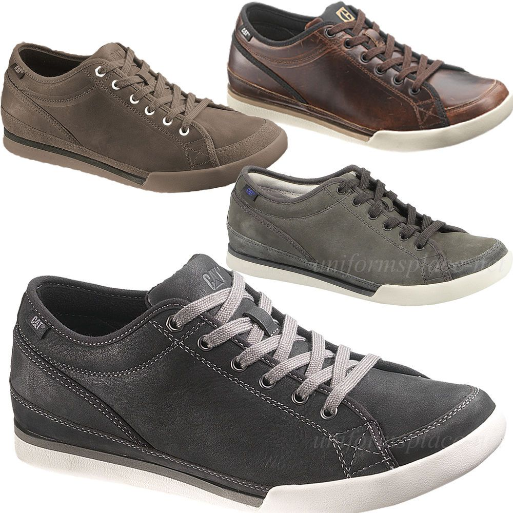 Caterpillar Shoes Men Jed Sneakers LEATHER Work, Casual Shoes CAT Oxford  Lace Up