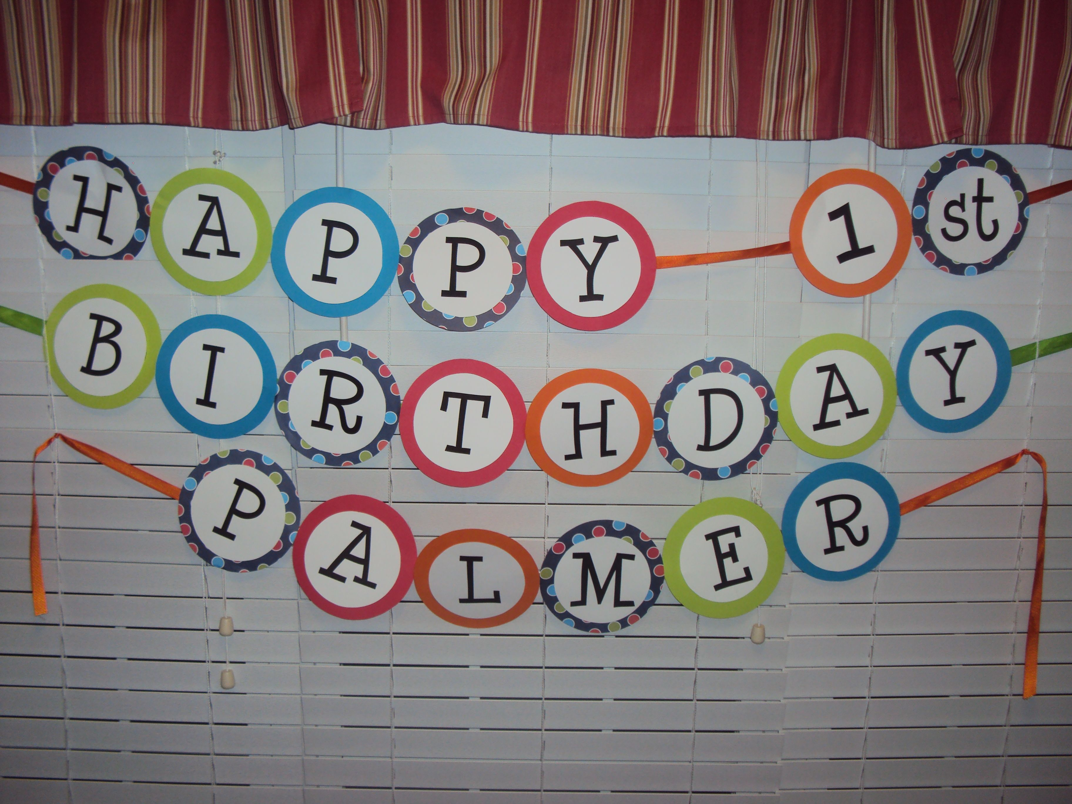 make your own birthday banner  1st birthday  pinterest  birthdays