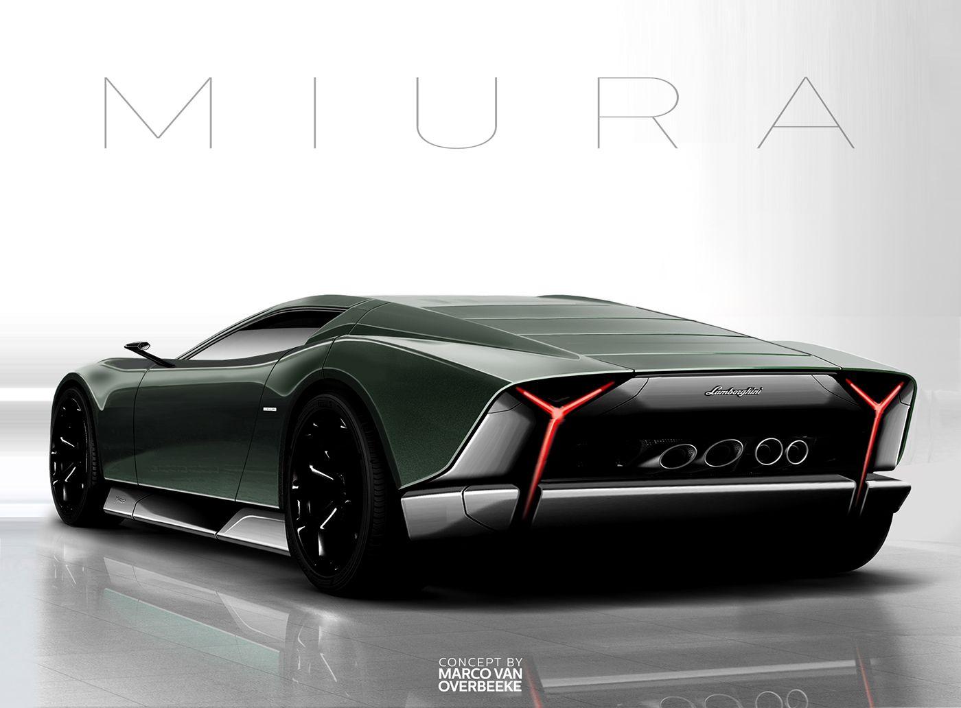 Lamborghini Miura Nuova Concept Ii On Behance Cool Car Board