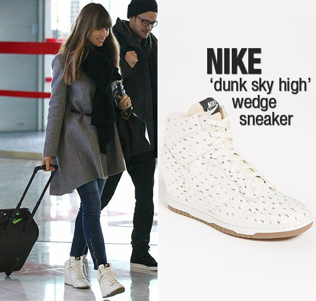 239864a3ae7f ... Dunk Sky Hi Essential in Red Lyst Celebrity With Sneaker Wedges ope you  didnt think the wedge sneaker trend was Nike ...