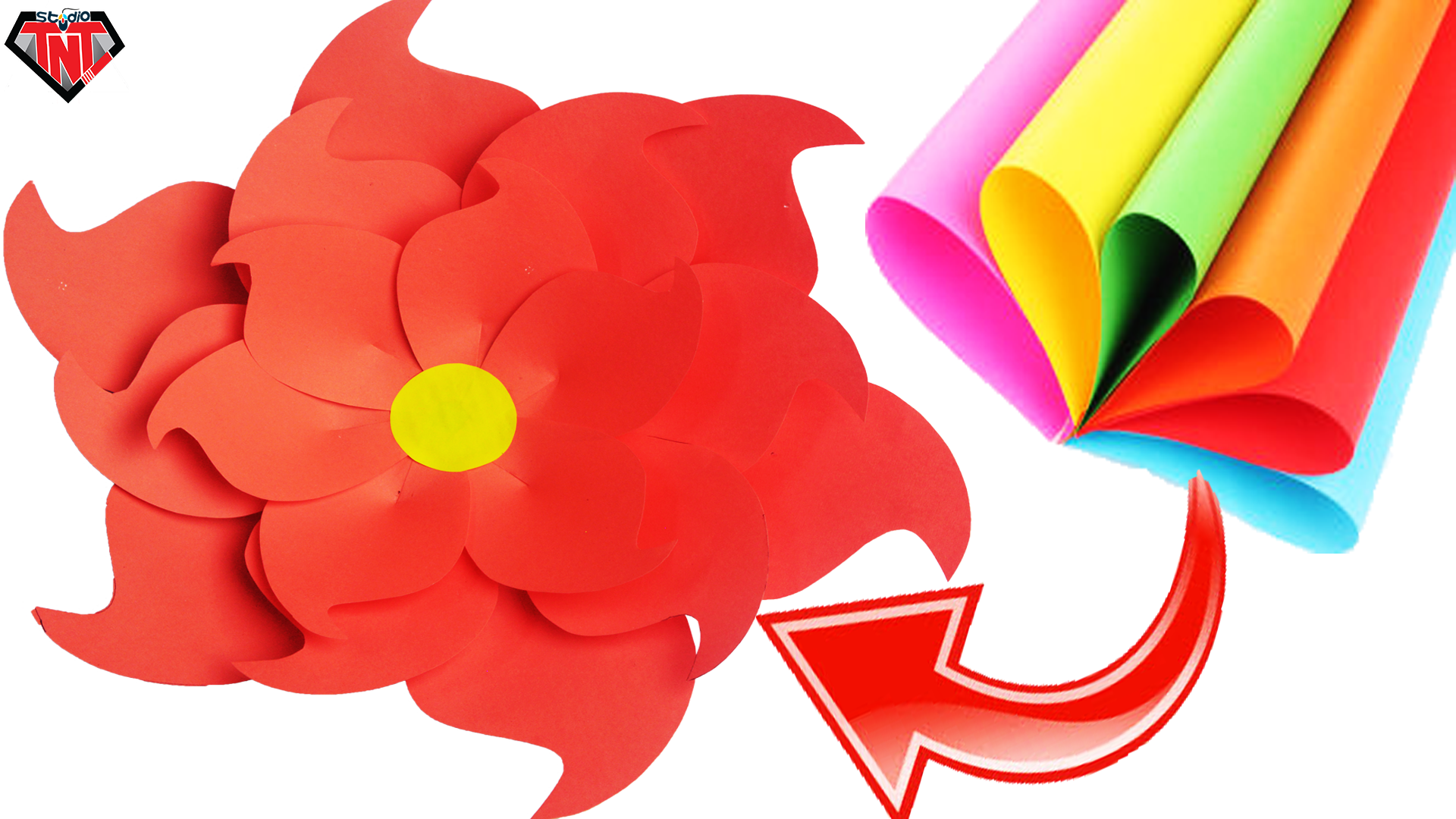 How To Make Giant Paper Flowers Easy Diy Wall Hanging Craft