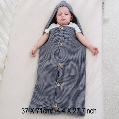 5995915cb Baby Swaddle Wrap Warm Wool Crochet Knitted Newborn Infant Sleeping ...