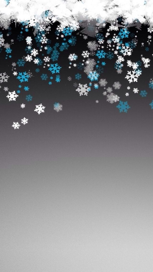Snowflake Pattern Background iPhone Wallpapers Wallpaper