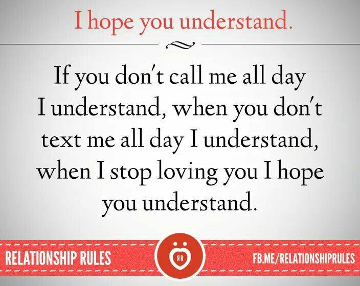 I hope you understand...