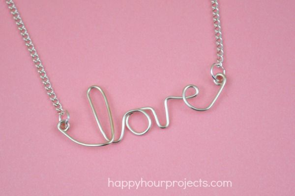 Easy wire love necklace at happyhourprojects diy jewelry easy wire love necklace at happyhourprojects diy jewelry accessories pinterest bijou aloadofball Choice Image