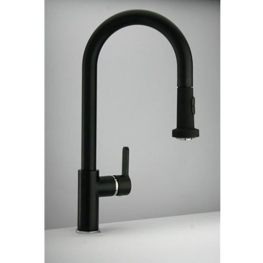 Black Kitchen Sink And Taps: Paini Arena Pull Out Spray Tap Finish-black