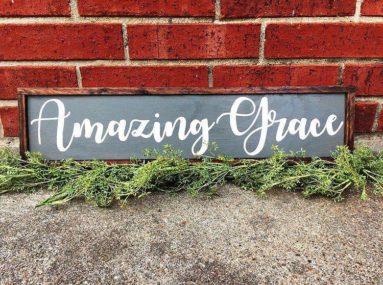 Amazing Grace Sign| Amazing Grace| Amazing Grace Farmhouse Sign| Farmhouse Decor| Farmhouse Sign| Christmas Sign| Christmas wood sign| Wood by SweetGypsyDecor on Etsy