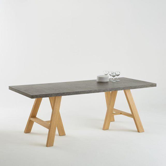 Table 8 Couverts, Plateau Effet Béton, Concrite