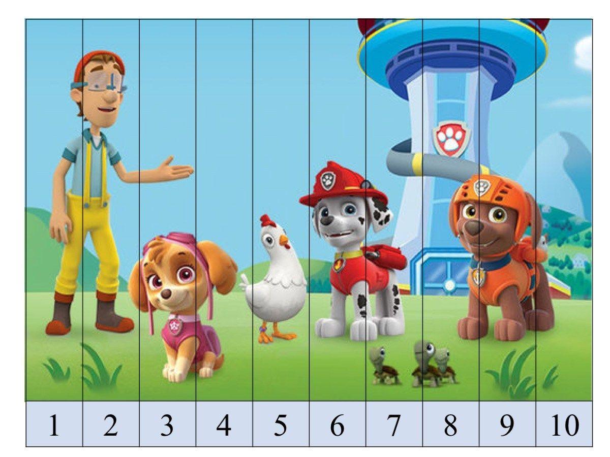 Puzzle De Numeros Patrulla Canina Con Superimagenes3